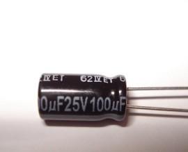 4 Stuks 100uF 25v Low ESR